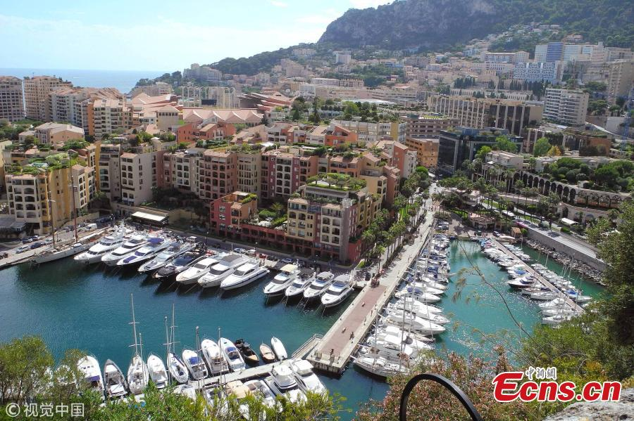 Photo taken on July 1, 2014 shows a typical landscape in Monaco. (Photo/VCG)