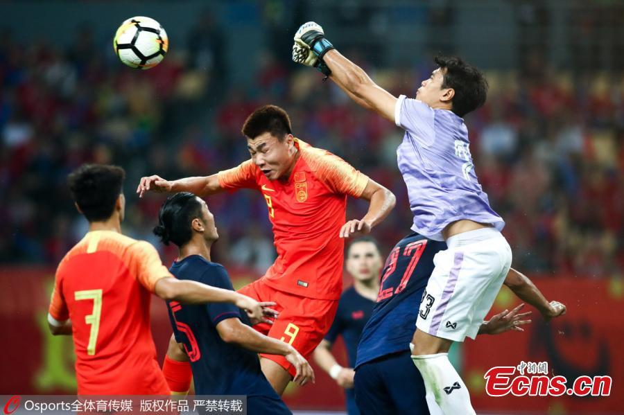 Dong Xuesheng of China competes during 2019 China Cup International Football Championship between China and Thailand at Guangxi Sports Center on March 21, 2019 in Nanning, China. (Photo/Osports)