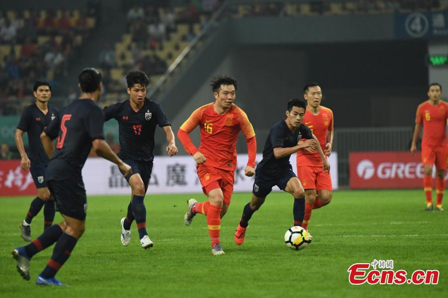 Players competes during 2019 China Cup International Football Championship between China and Thailand at Guangxi Sports Center on March 21, 2019 in Nanning, China. (Photo/Osports)