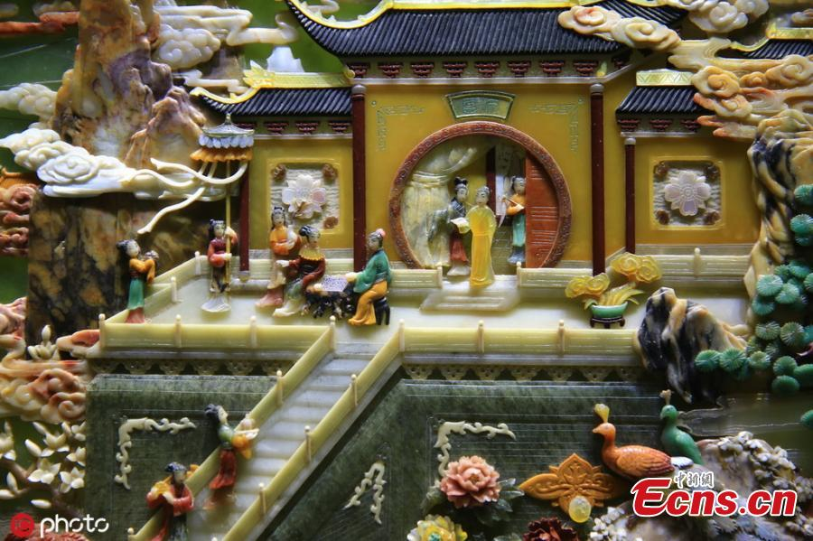 A table screen, made using the ancient craft of Baibaoqian (\