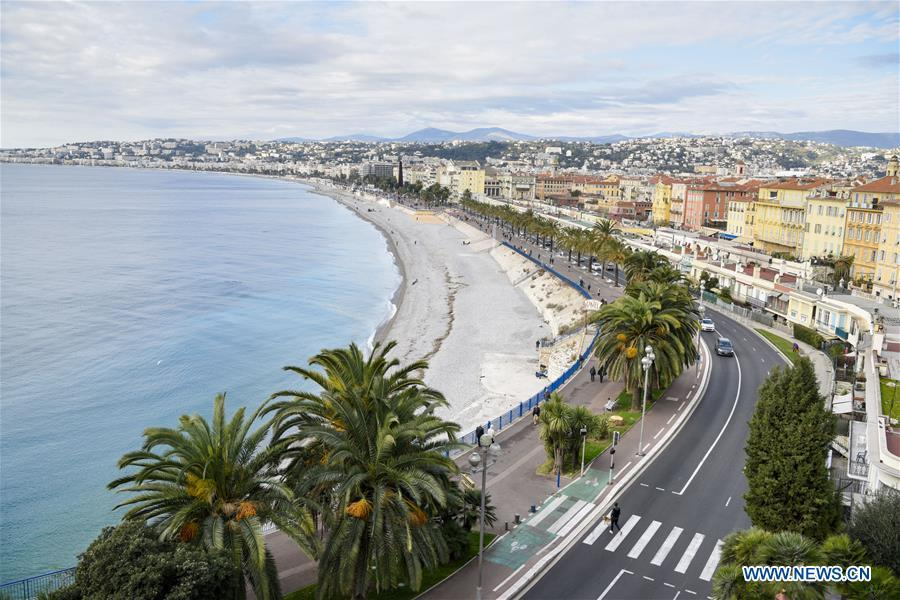 Photo taken on Dec. 4, 2016 shows the Baie des Anges (Bay of the Angels) in Nice, France. (Xinhua/Chen Yichen)