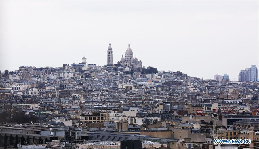 Photo taken on March 20, 2019 shows a view of Montmartre in Paris, France. (Xinhua/Gao Jing)