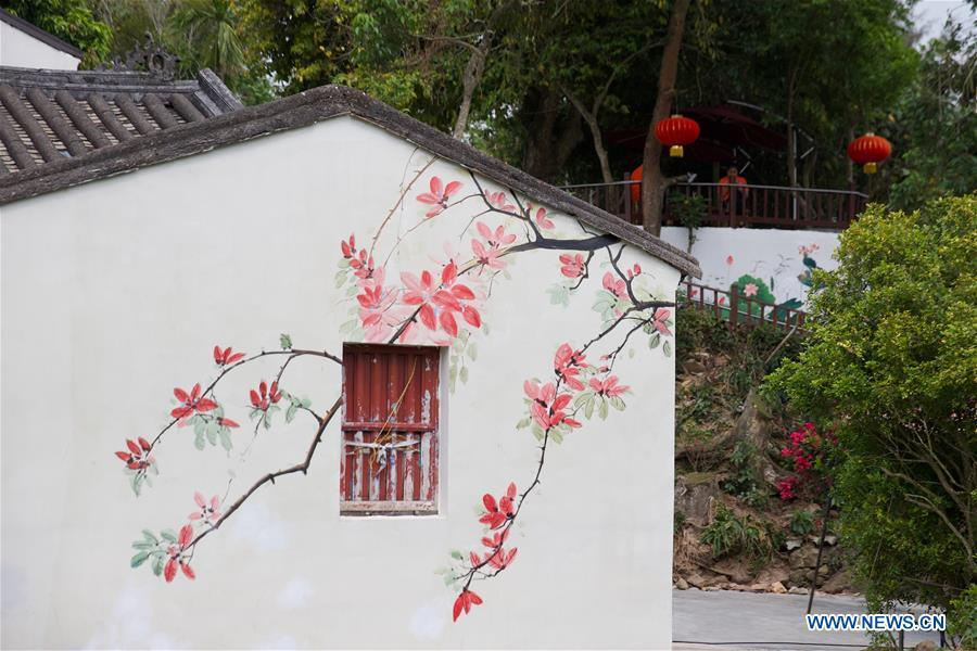 Photo taken on March 25, 2019 shows a spring scenery of Shamei Village in Boao Town, Qionghai City, south China\'s Hainan Province. Qionghai City has quickened its steps towards the construction of \