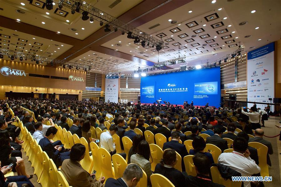 The Boao Forum for Asia (BFA) annual conference 2019 opens in Boao, south China\'s Hainan Province, March 28, 2019. (Xinhua/Hou Dongtao)