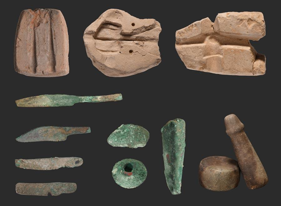 4. Jirentai relic sites in Nilka county, Xinjiang Uyghur autonomous region, 2600-2400 BC. (Photo provided to chinadaily.com.cn)