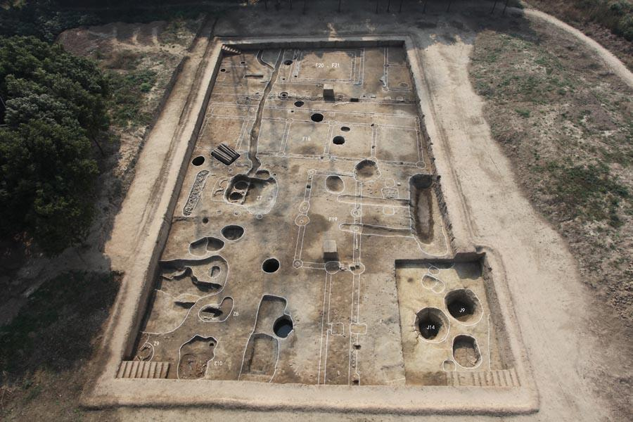 7. Huangsipu relic site, Zhangjiagang, Jiangsu Province, from Tang (618-907) to Song (960-1279) Dynasties. (Photo provided to chinadaily.com.cn)