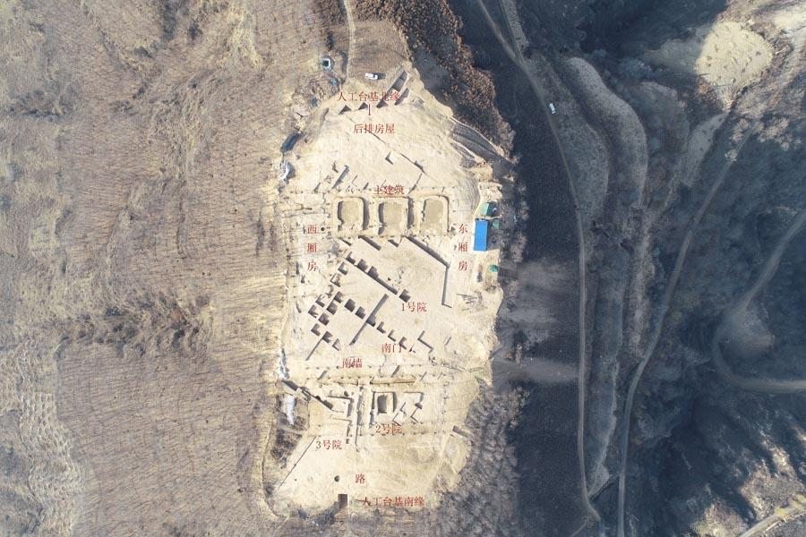 3. Lushanmao relic site in Yan\'an, Shaanxi Province, about 4,500 years ago. (Photo provided to chinadaily.com.cn)