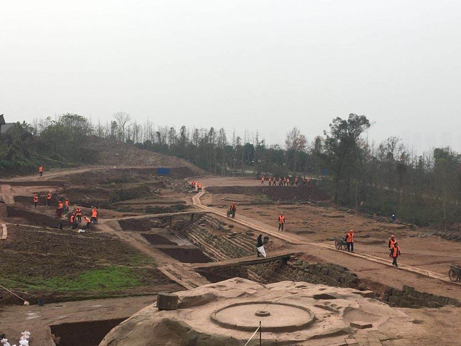 9. Fanjiayan relic site, Hechuan district, Chongqing, from Southern Song Dynasty (1127-1279).  (Photo provided to chinadaily.com.cn)