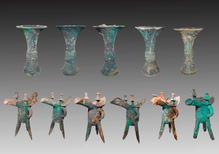5. Jiuwutou relic site, Wenxi county, Shanxi Province, from Shang Dynasty (16th -11th century BC). (Photo provided to chinadaily.com.cn)