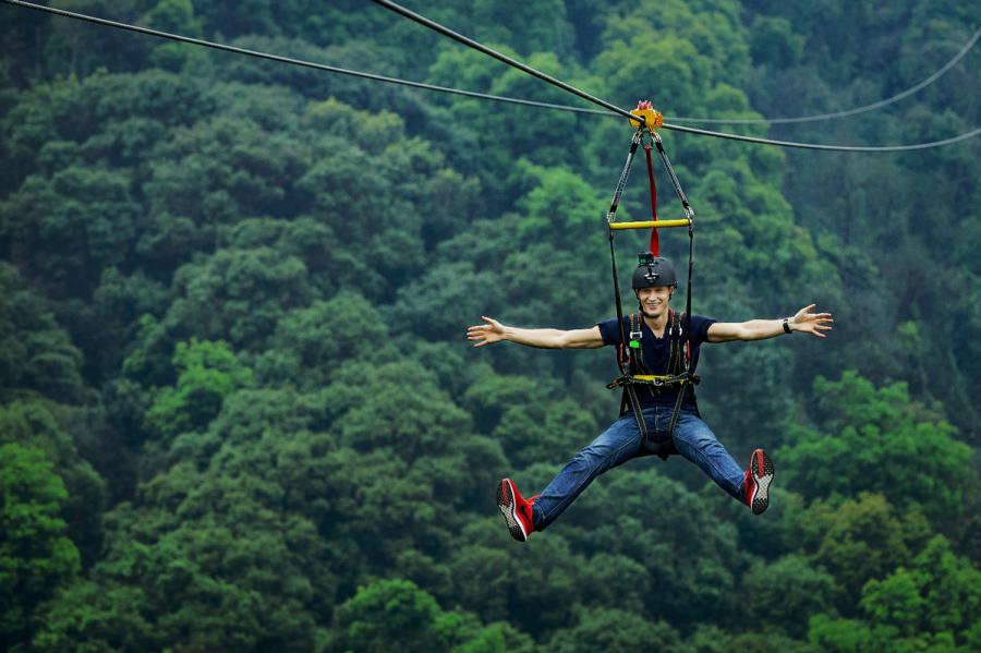 China\'s longest strop ropeway will be in full operation in the beginning of April in Guangzhou, capital of Guangdong Province. (Photo provided to chinadaily.com.cn)
