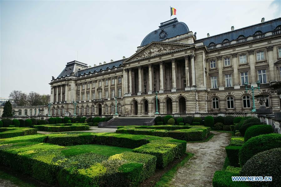 Photo taken on April 5, 2019 shows the Royal Palace of Brussels in Brussels, Belgium. Brussels is the capital and the largest city of Belgium. It also enjoys the reputation of the \