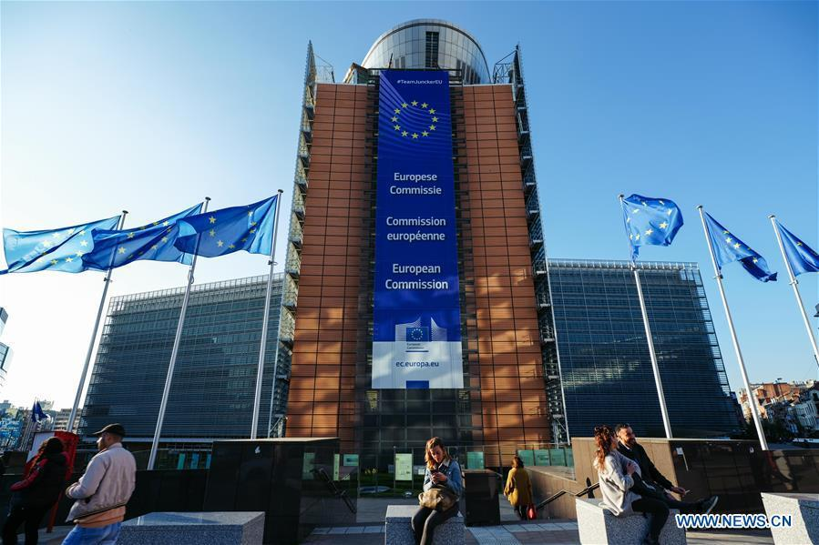 Photo taken on March 29, 2019 shows the Berlaymont Building, the European Commission headquarters, in Brussels, Belgium. Brussels is the capital and the largest city of Belgium. It also enjoys the reputation of the \