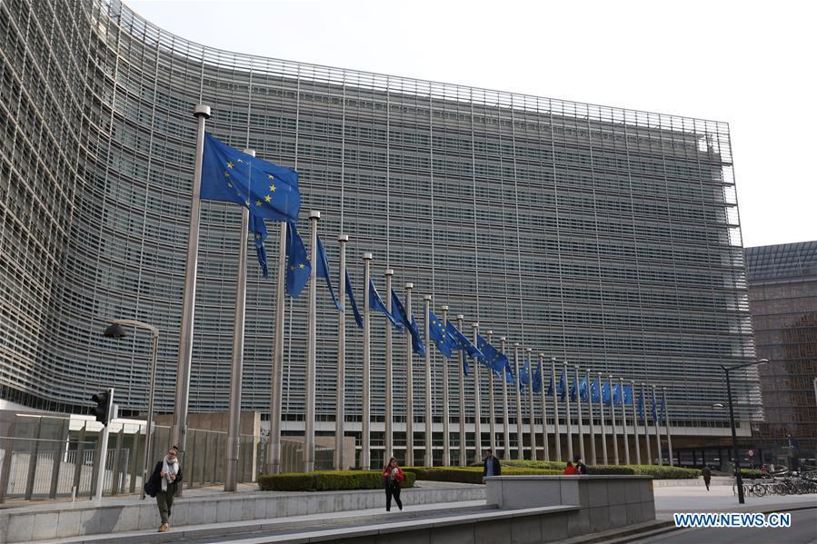 Photo taken on April 5, 2019 shows the Berlaymont Building, the European Commission headquarters, in Brussels, Belgium. Brussels is the capital and the largest city of Belgium. It also enjoys the reputation of the \