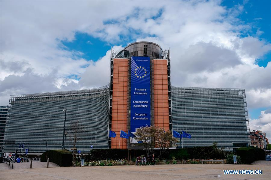 Photo taken on April 3, 2019 shows the Berlaymont Building, the European Commission headquarters, in Brussels, Belgium. Brussels is the capital and the largest city of Belgium. It also enjoys the reputation of the \