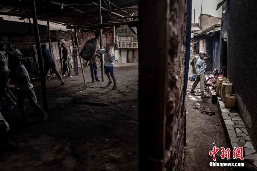Sports, singles, 1st prize  Boxer Moreen Ajambo (30) trains at the Rhino boxing club in Katanga, a large slum settlement in Kampala, Uganda, March 24, 2018.  Photographer: John T. Pedersen