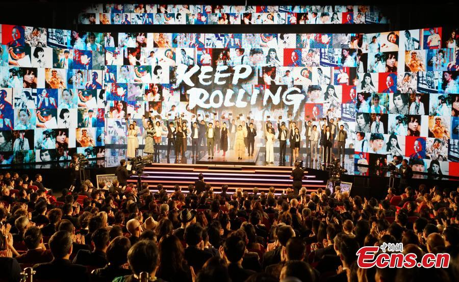 The Hong Kong Film Awards ceremony at the Hong Kong Cultural Centre, April 14, 2019. Crime thriller Project Gutenberg was the night's biggest winner, bagging seven awards, including best film, after receiving 17 nominations. (Photo: China News Service/Zhang Wei)