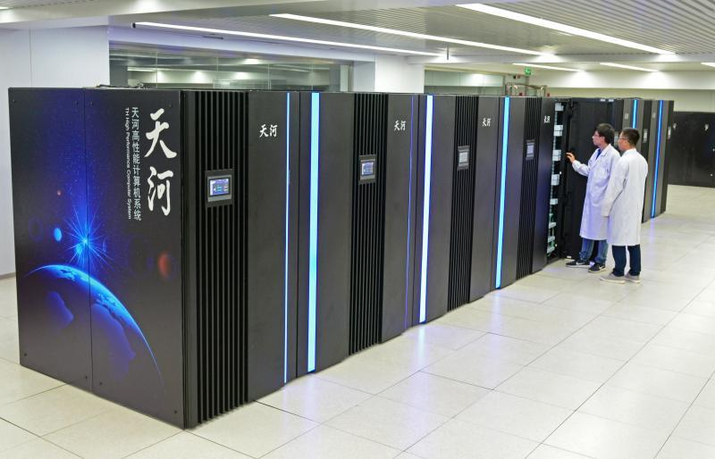 The prototype of the new-generation exascale supercomputer Tianhe-3 has been developed by the National Supercomputer Center in Tianjin.  (Photo/Tianjin Municipal Information Office)