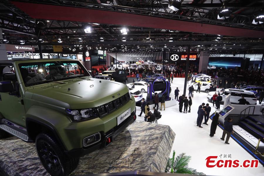 The 2019 Shanghai auto show is underway in Shanghai, April 16, 2019.  The 18th Shanghai International Automobile Industry Exhibition is open to the media on Tuesday and Wednesday, before opening its doors to the public from Thursday until April 25. The exhibition has attracted more than 1,000 exhibitors from 20 countries and regions worldwide, according to organizers. (Photo: China News Service/Zhang Hengwei)