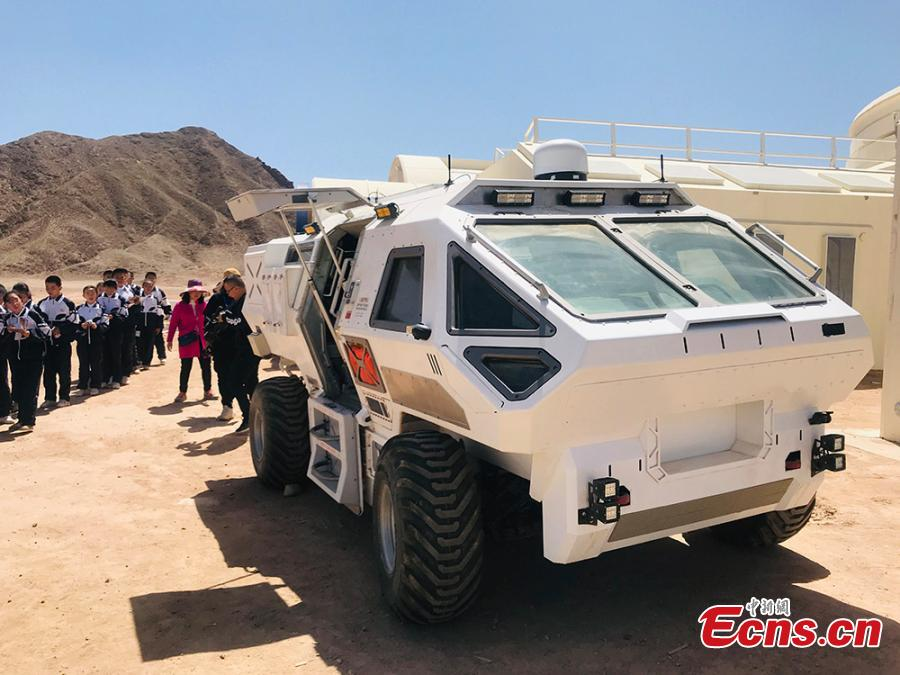 The C-Space Project Mars Base opened officially on 17 April 2019 with the aim to educate and provide an environment for youths and tourists to experience life on planet Mars.  (Photo/China News Service)