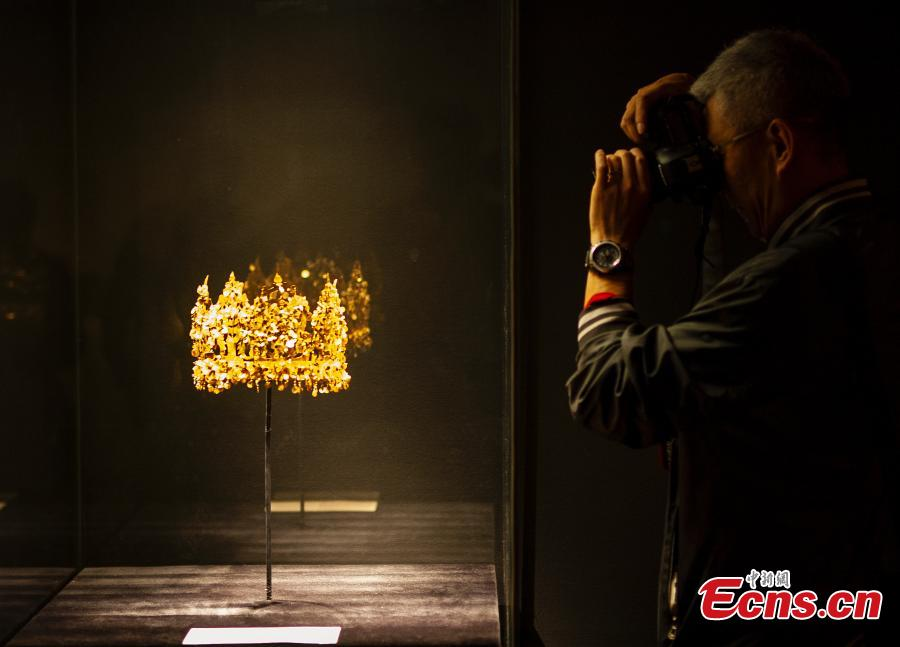 National treasures from Afghanistan during an exhibition at Tsinghua University Art Museum in Beijing, April 18, 2019. The exhibition, titled, \