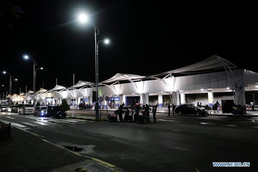 Photo taken on April 22, 2019 shows the Bandaranaike International Airport in Colombo, Sri Lanka. The death toll from the multiple blasts that ripped through Sri Lanka on Sunday rose to 228 while 450 others were injured, local media quoting hospital sources said. (Xinhua/Wang Shen)