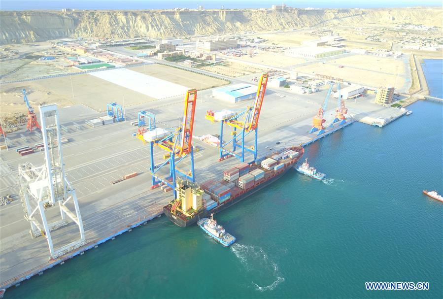 A photo taken on March 24, 2018 shows the Gwadar port of Pakistan. (Photo/Xinhua)