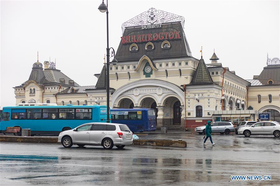 Photo taken on April 23, 2019 shows the vintage railway station in Vladivostok, Russia. Russian President Vladimir Putin and the top leader of the Democratic People\'s Republic of Korea (DPRK) Kim Jong Un will meet on Thursday in Russia\'s Far East city of Vladivostok, Kremlin aide Yuri Ushakov said Tuesday. (Xinhua/Bai Xueqi)