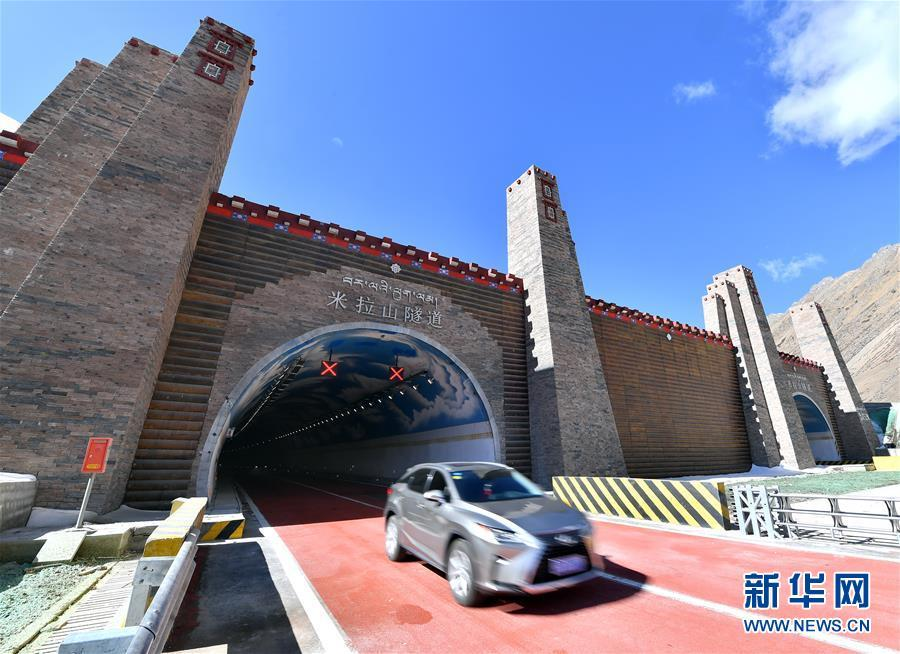 Mila Mountain Tunnel opens to traffic in Southwest China\'s Tibet autonomous region, April 26, 2019.  (Photo/Xinhua)