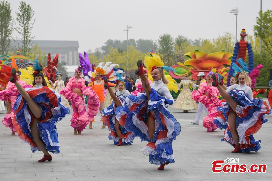 The 2019 Beijing International Horticultural Exhibition opens to the public on April 29, 2019. The expo, to be held from April 29 to Oct. 7, will exhibit flower, fruit and vegetable farming at the foot of the Great Wall in Beijing.(Photo: China News Service/Cui Nan)