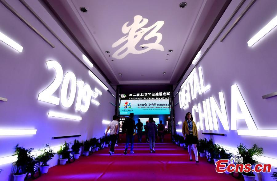 The second Digital China Summit in Fuzhou, Fujian Province, May 5, 2019. (Photo: China News Service/Lyu Ming)