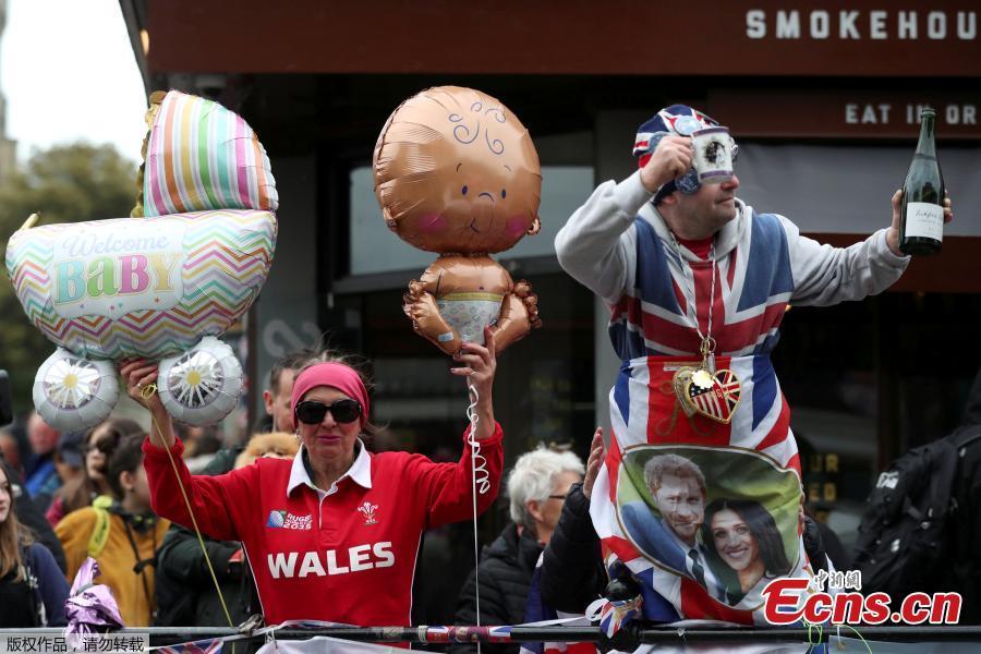 Royal fans celebrate following news of the birth May 6, 2019. (Photo/Agencies)
