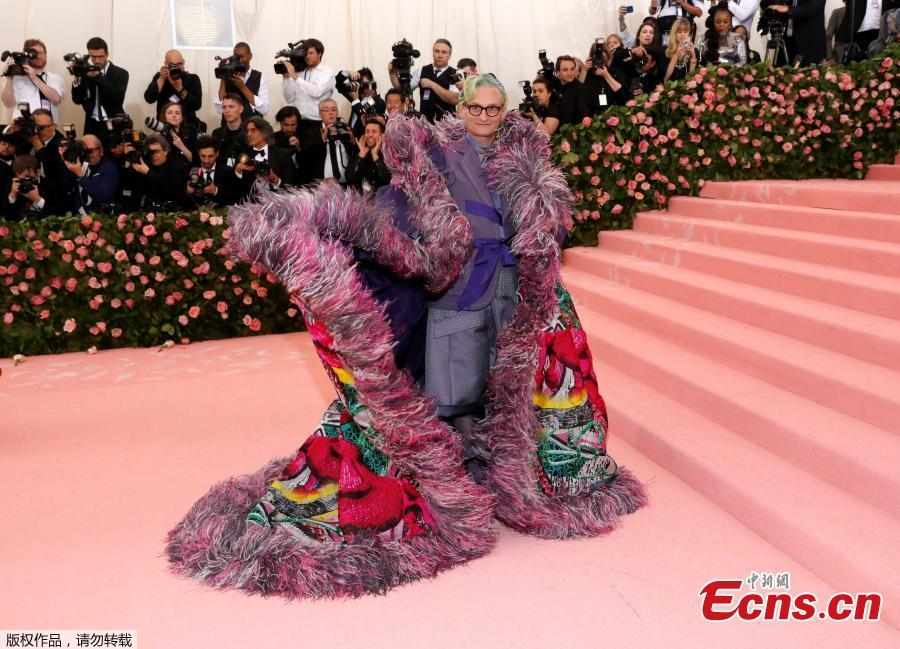 Hamish Bowles arrives for the 2019 Met Gala at the Metropolitan Museum of Art on May 6, 2019, in New York. (Photo/Agencies)