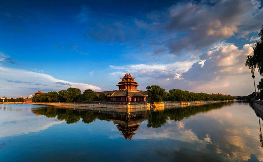 A turret of the Palace Museum, Beijing.  (Photo provided to chinadaily.com.cn)