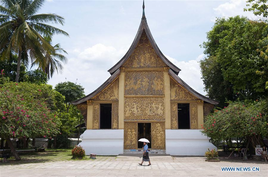 Photo taken on June 2, 2013 shows the Wat Xieng Thong temple in Luang Prabang, Laos. China will hold the Conference on Dialogue of Asian Civilizations starting from May 15. Under the theme of \