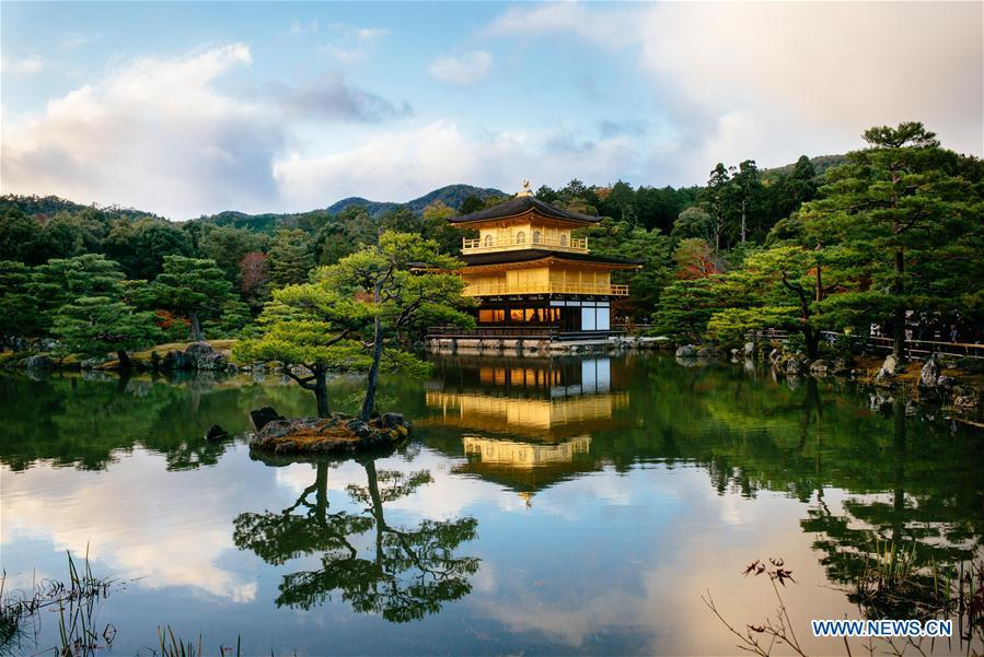 Photo taken on Nov. 24, 2015 shows the Kinkaku-ji temple in Kyoto, Japan. China will hold the Conference on Dialogue of Asian Civilizations starting from May 15. Under the theme of \