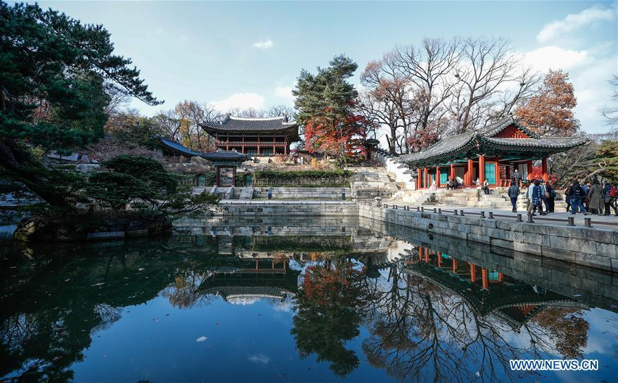 Photo taken on Nov. 13, 2018 shows the Changdeokgung Palace in Seoul, South Korea. China will hold the Conference on Dialogue of Asian Civilizations starting from May 15. Under the theme of \