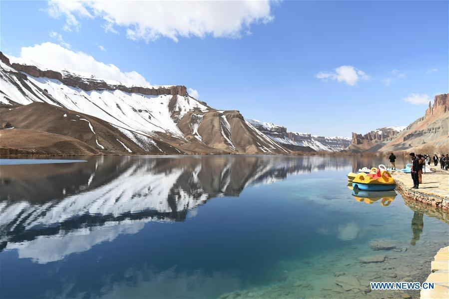Photo taken on March 27, 2018 shows the Band-e-Amir lake in Bamyan Province, Afghanistan. China will hold the Conference on Dialogue of Asian Civilizations starting from May 15. Under the theme of \