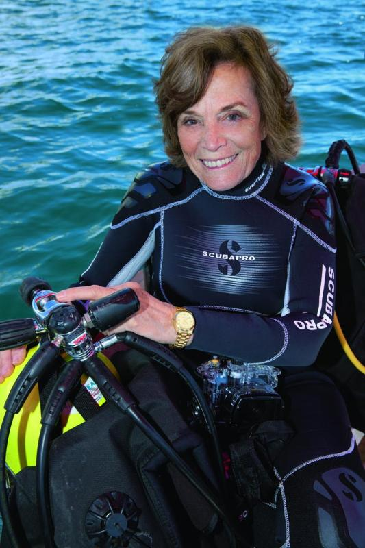 U.S. explorer Sylvia Earle (Photo provided to China Daily)