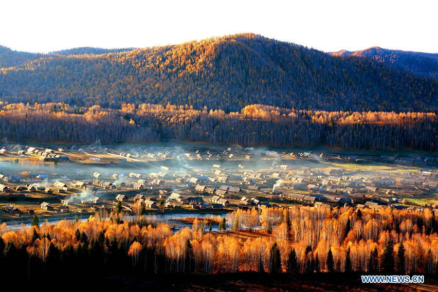 Photo taken on Oct. 5, 2006 shows the scenery at the Kanas scenic area in northwest China\'s Xinjiang Uygur Autonomous Region. China will hold the Conference on Dialogue of Asian Civilizations starting from May 15. Under the theme of \