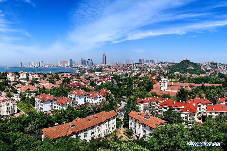 Photo taken on May 24, 2018 shows the scenery of Qingdao City, east China\'s Shandong Province. China will hold the Conference on Dialogue of Asian Civilizations starting from May 15. Under the theme of \