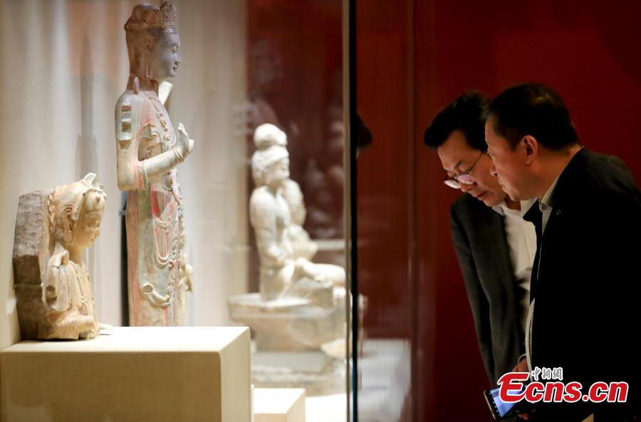 Photo taken on May 13, 2019 shows an exhibition about Asian civilization held at the National Museum of China in Beijing, as part of the Conference on Dialogue of Asian Civilizations (CDAC). The exhibition shows 451 sets of cultural relics from Greece, Egypt, and all 47 countries in Asia. The convening of the CDAC aims at promoting exchanges and mutual learning among civilizations in Asia and the rest of the world, while encouraging these civilizations to achieve common progress. (Photo: China News Service/Du Yang)