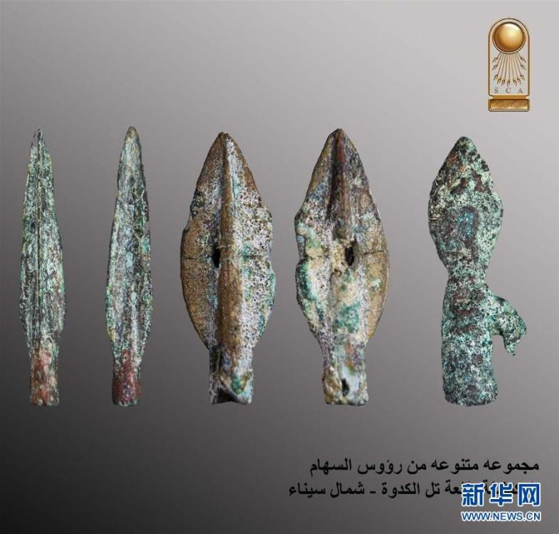 The undated photo provided by the Egyptian Ministry of Antiquities on May 13, 2019 shows antiquities discovered in a military castle in North Sinai, Egypt. An Egyptian archeological mission has discovered remnants of a military castle that dates back to Psamtik era from 664-610 BC in North Sinai province, the country\'s Ministry of Antiquities said in a statement on Monday. (Xinhua)