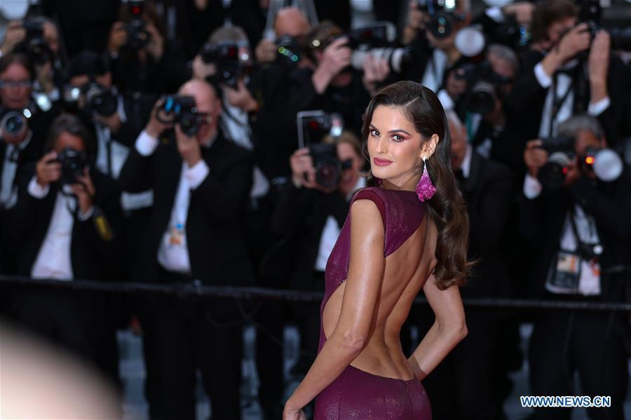 Model Izabel Goulart attends the opening gala during the 72nd Cannes Film Festival at Palais des Festivals in Cannes, France, on May 14, 2019. The 72nd Cannes Film Festival is held here from May 14 to 25. (Xinhua/Zhang Cheng)