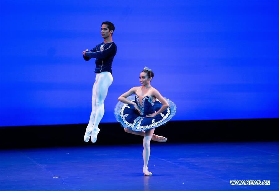 Dancers from a Philippine ballet company perform during the \