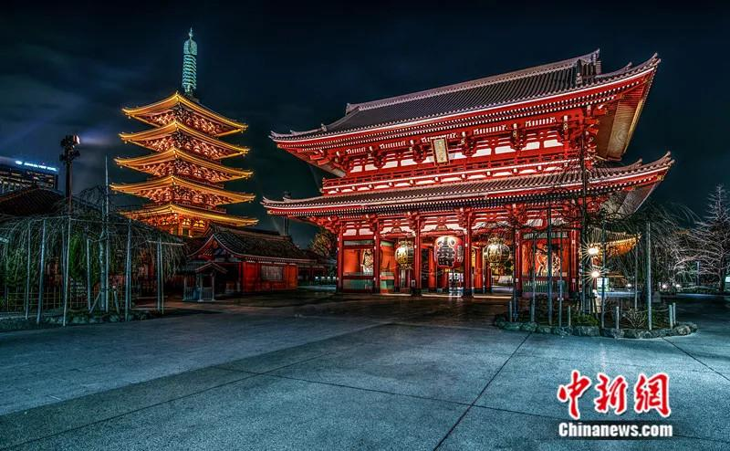File photo shows the Sensoji Temple in Tokyo, Japan. Sensoji is an ancient Buddhist temple, and is Tokyo\'s oldest remaining religious temple.  (Photo/VCG)