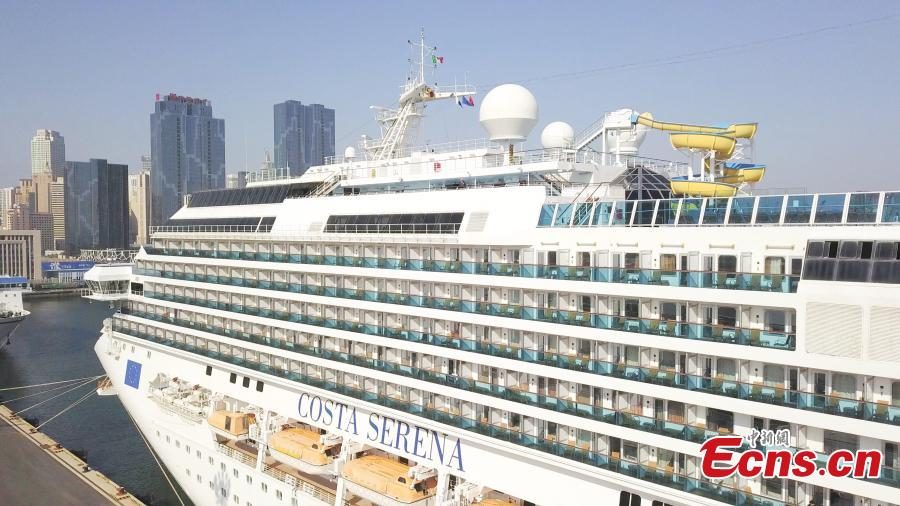 Costa Serena, a Concordia-class cruise ship of the Italian cruise line Costa Crociere, departs from a port in Dalian City, Northeast China's Liaoning Province, May 14, 2019, kicking off a five-day-six-night trip to Japan. The Dalian Port International Cruise Liner Center opened in 2016 with aims build it into a cruise hub in northeastern Asia. Costa Serena is the biggest cruise boat the center has handled. (Photo: China News Service/Zhao Guanghui)