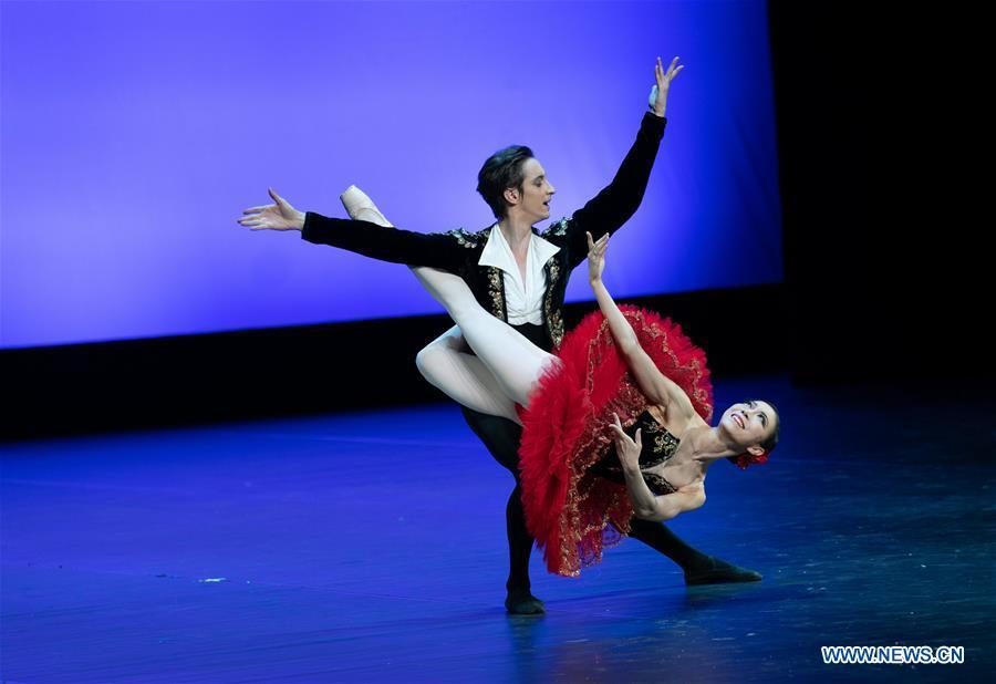 Dancers from a ballet company of the Republic of Korea perform during the \