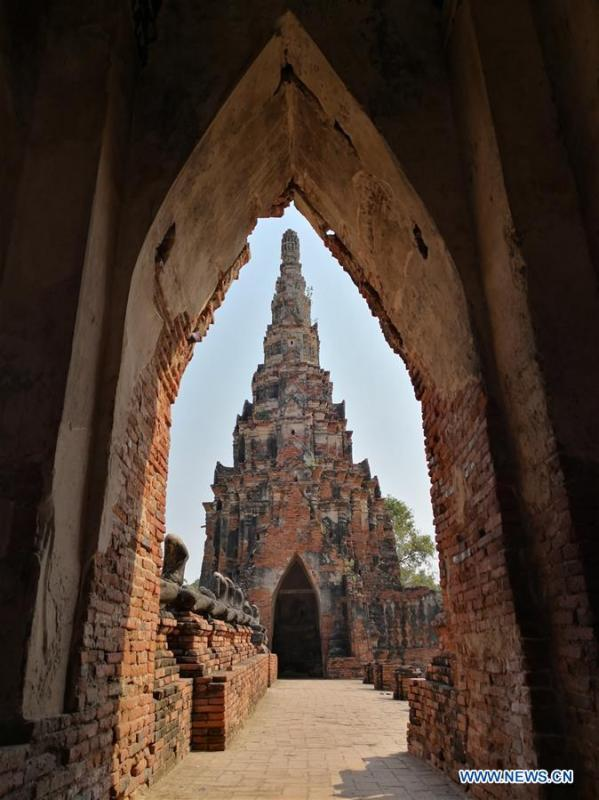 Photo taken by Ratjirot Aekkawat on Feb. 6, 2018 shows the historical site of Ayutthaya Dynasty in Thailand. Ratjirot Aekkawat is of mixed blood from China and Thailand. He came to study in China as a junior student and now he is a postgraduate student of the Peking University. He always talks about his experience in China with relatives and friends. He has witnessed the development of China in recent years, during which the environment and local governments\' working efficiencies have been greatly improved. Chinese and Thai cultures are influenced with each other. Many Thai people celebrate the Spring Festival every year and lots of Chinese go to Thailand for tourism. The photo of the historical site of Ayutthaya Dynasty taken by Ratjirot Aekkawat will be displayed in a photographic exhibition \