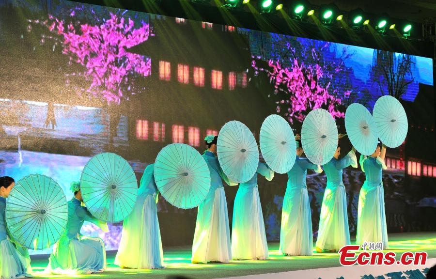 A dance performance at the opening ceremony of the Asian Cuisine Festival - Taste of Hangzhou in Hangzhou City, Zhejiang Province, May 15, 2019. Several cities in China have hosted the Asian Cuisine Festival as part of celebrations for the Conference on Dialogue of Asian Civilizations held in Beijing this week.  (Photo: China News Service/Zhang Yin)