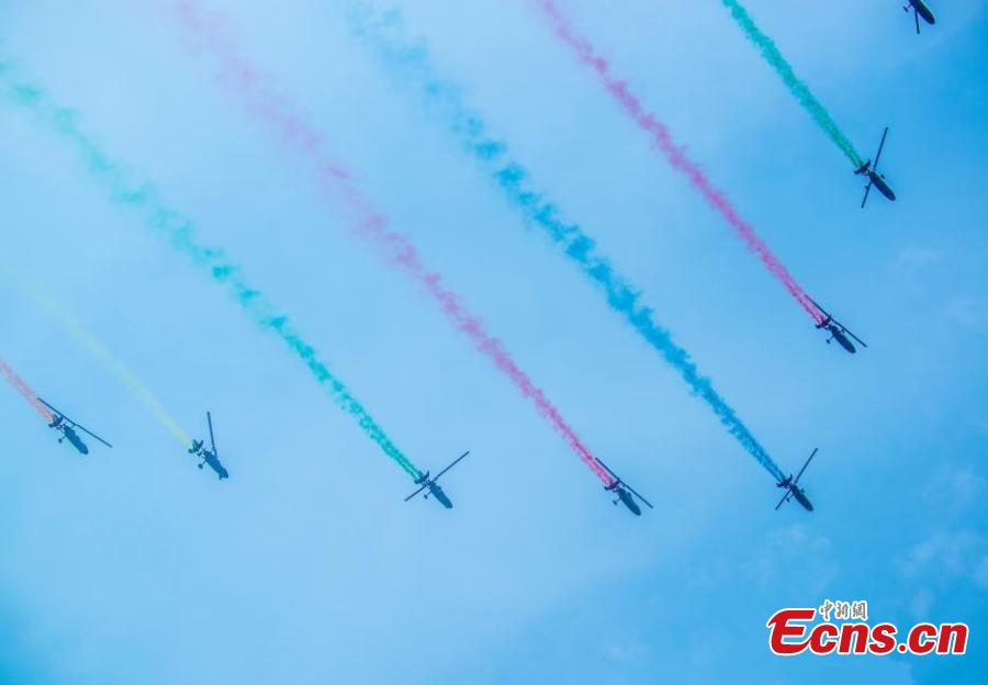 The 2019 World Fly-in Expo (WFE) featuring 560 aircrafts opened on May 18, 2019 in Wuhan, capital of central China\'s Hubei Province. The WFE, which runs until Wednesday, is hosted by the World Air Sports Federation. The Expo features aerial flight performance, aerial sports events, static exhibition and conference forum.The four-day event has attracted 560 aircrafts, with about 100 taking part in the exhibition, according to the organizers.(Photo: China News Service/Zhao Guangliang)